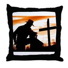 """Cowboy Prayer"" Throw Pillow"