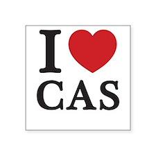 I Love Cas (Red Heart) Sticker