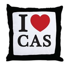 I Love Cas (Red Heart) Throw Pillow