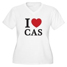 I Love Cas (Red Heart) Plus Size T-Shirt