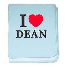 I Love Dean (Red Heart) baby blanket