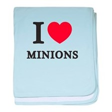 I Love Minions (Red Heart) baby blanket