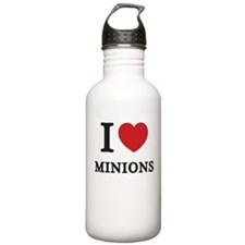 I Love Minions (Red Heart) Water Bottle