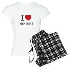 I Love Minions (Red Heart) Pajamas