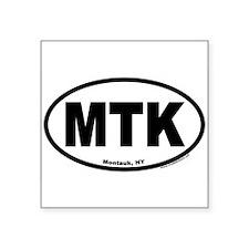 Montauk, NY MTK Euro Style Oval Sticker