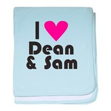 I Love Dean & Sam (Pink Heart) baby blanket
