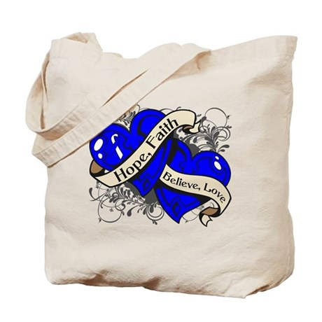 ALS Disease Hope Dual Heart Tote Bag