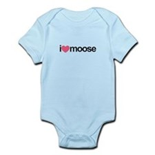 I Love Moose (Pink Heart) Body Suit