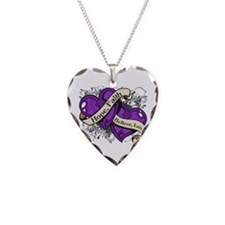 Alzheimers Disease Hope Dual Heart Necklace