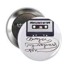 "Dean & Sam Mix Tape 2.25"" Button"