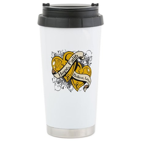 Appendix Cancer Hope Dual Heart Ceramic Travel Mug