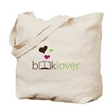 Book Lover - floating hearts Tote Bag