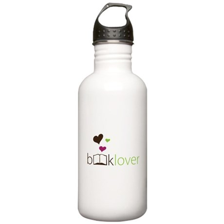 Book Lover - floating hearts Water Bottle