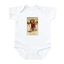 Victorian Skiing Santa Claus - Joyeux Noel Infant