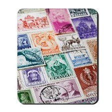 Variety of Postage Stamps Mousepad