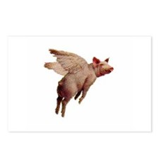 Unique Flying pigs Postcards (Package of 8)