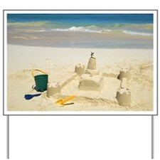 Sandcastle with pail and shovel Yard Sign
