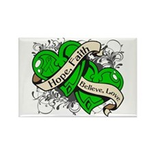 Cerebral Palsy Hope Dual Heart Rectangle Magnet (1