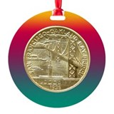 San Francisco Oakland Bridge Coin Ornament