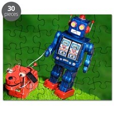 Robot and Robot Dog Puzzle