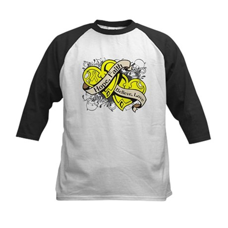 Endometriosis Hope Dual Heart Kids Baseball Jersey