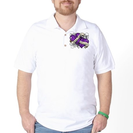 Epilepsy Hope Dual Heart Golf Shirt