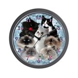 Himalayan and Persian Cats Wall Clock