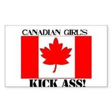 canadian girls Rectangle Decal