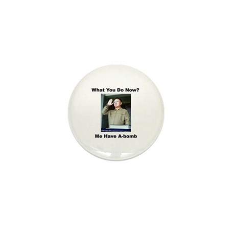 Kim Jung Il - What You Do Now? Mini Button