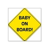 baby on board sicker (rectangular) Sticker