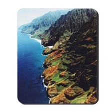 USA, Hawaii, Kauai, mountainous coastline Mousepad