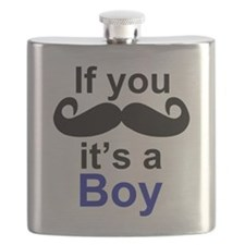 If you moustache its a boy Flask