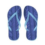 Flip Flops-Blue Knitting