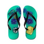 Flip Flops-Buttons & Filigree