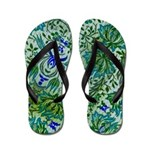 Flip Flops-Green & Blue Design