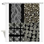 Shower Curtain Black & White Designs