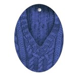 Ornament (Oval) Blue Knit