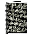 Journal Black & White Herringbone Design