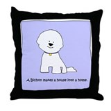A Bichon Makes A House Throw Pillow P28
