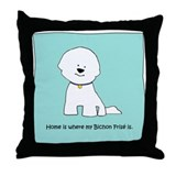 Home Is Where My Bichon Is Throw Pillow P49