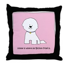 Home Is Where My Bichon Is Throw Pillow P69