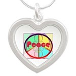 Abstract Peace Sign Necklaces