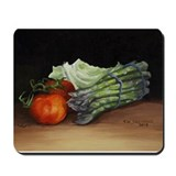 Still Life Tomato Cabbage Asparagus Mousepad