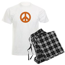 Orange Peace Sign Pajamas