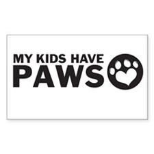 my kids have paws Stickers