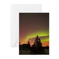 Northern lights Alberta  Greeting Cards (Pk of 10)