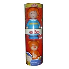 Caillou Figure Tubes - Rosie And Teddy Bear
