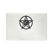Snake Pentagram Rectangle Magnet