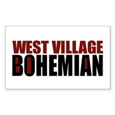 Greenwich Village Bohemian Rectangle Decal