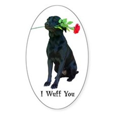 wuff you Oval Decal